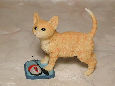Katzenfigur KATZE MIT PC MAUS Country Artists Cat #CA03260 Enesco