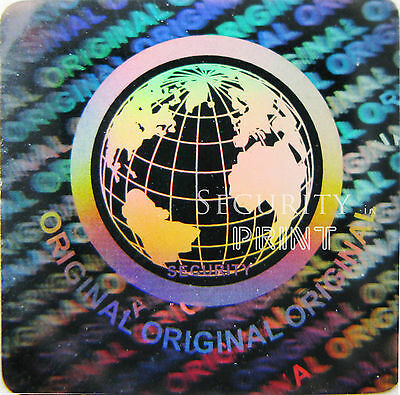 392 x WORLD Hologram Holographic Security Label Sticker 20mm S20-1S