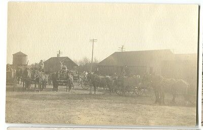 1910 era  Railroad Depot Motley Minnesota Real Photo Postcard RPPC