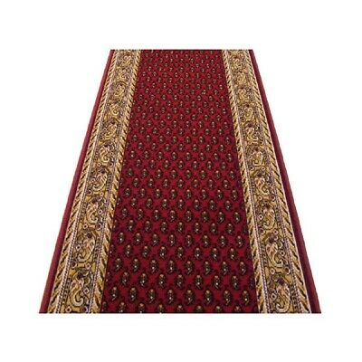 Hallway Runner Carpet Rug Red 67cm Wide Rubber Backed Inca Per Metre Floor New