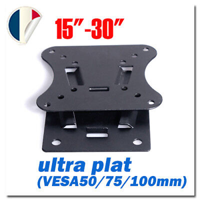 """Neuf LED Plat Support mural TV Inclinable pour 15""""-30"""" VESA 50mm 75mm 100mm FR"""