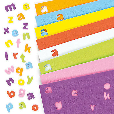 Self-Adhesive Foam Lower-Case Letters, Kid's Craft Activities (Pack of 1100)