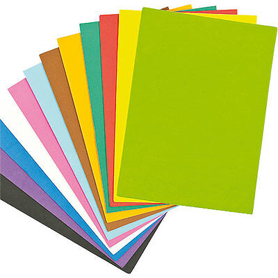 Assorted Coloured Foam Sheets - Children's Craft Supplies (Pack of 18)