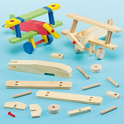 Wooden Aeroplane Kits for Kids to Make, Paint & Decorate(Pack of 2)