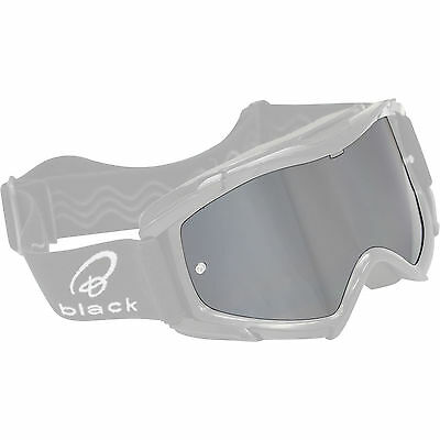Black Rock Silver / Mirror Motocross Goggle Lens Anti-Fog Anti-Scratch Spare