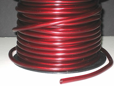 1' Red spark plug wire 7mm stranded copper core electronic ignition cord