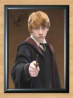 Ron Weasley Harry Potter Rupert Grint 2 Signed Autographed A4 Poster Print Photo