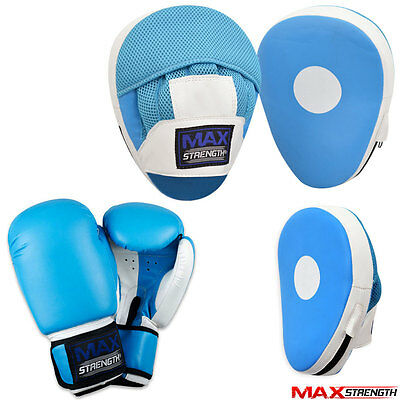 MAXSTRENGTH Focus Pads Boxing Hook and Jab Pads Punching Training MMA Gloves