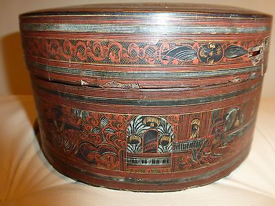 Antique Asian Wooden Gift Box- Very Rare