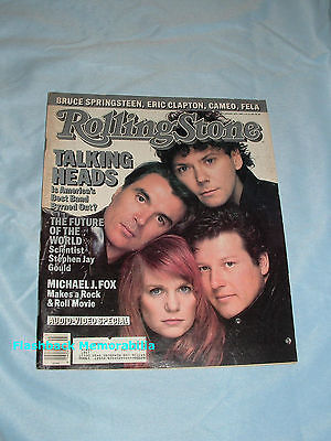 TALKING HEADS 1987 ROLLING STONE MAGAZINE Cover CLAPTON Springsteen BOY GEORGE