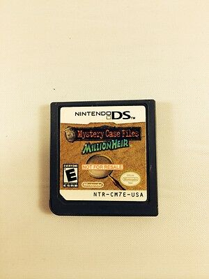 Mystery Case Files Millionheir NDS RARE 'NOT FOR RESALE' DEMO *VGWC!* ONLY ONE!