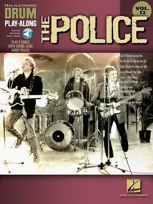 The Police Drum Play-Along Book and CD NEW 000700268