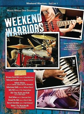 Weekend Warriors Set List 1 Drums Music Minus One Book and CD NEW 000119941