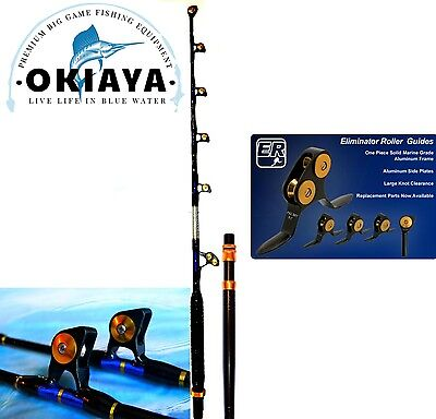 OKIAYA STAIGHT BUTT 80-130# VENOM PRO Trolling Rod For PENN OR TIAGRA