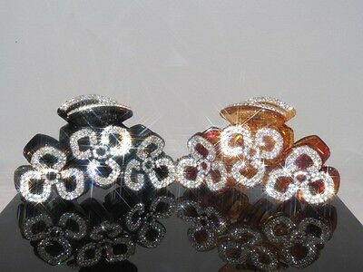 New Gorgeous Hair Clip Claw w Shiny Swarovsky Crystals Jewelry Hair Accessories