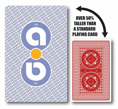 Large Print Oversize Jumbo PLAYING CARDS for Card Games Poker, Whist & Magic