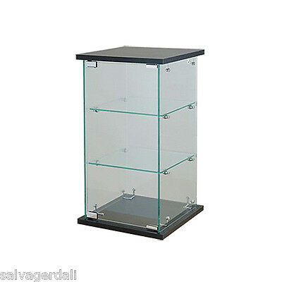 """Coutertop Showcase Display Collectibles Knockdown 24"""" H Black Ships UPS  NEW"""