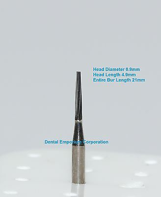 Dental Carbide Burs FG # 169L Tapered Fissure for High Speed HP 10 per package