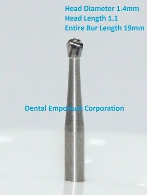 Dental Carbide Burs FG # 4 Round for High Speed Handpiece 10 per package
