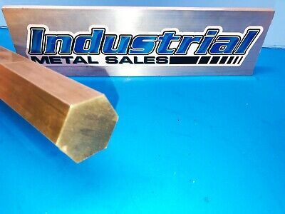 "1-3/8"" x 6""-Long 360 Brass Hex Bar-->1.375"" 360 Brass Hexagonal Bar"