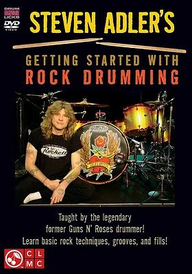 Steven Adler's Getting Started with Rock Drumming Taught by the Legend 002501387