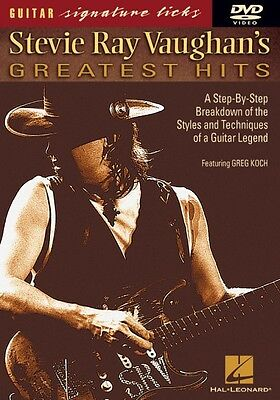 Stevie Ray Vaughan's Greatest Hits Signature Licks DVD Instructional G 000320256