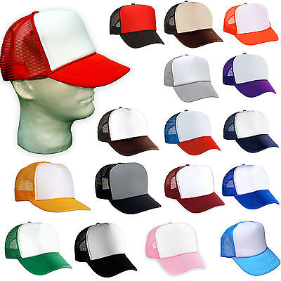 100 NEW TRUCKER HATS WHOLESALE BULK LOT Adjustable SNAPBACK HAT CAP MESH BLANK