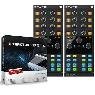 Native Instruments Traktor Kontrol X1 Mk2 Pair & Scratch A6 Digital DJ Package
