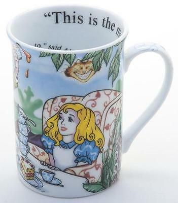 NEW boxed Paul Cardew Alice in Wonderland tea party 9oz mug coffee cup