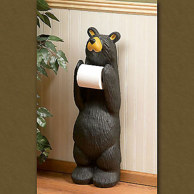 Big Sky Carvers Bearfoots Bear John, Grand Series Toilet Paper Holder