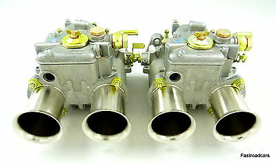 Weber Genuine 45 Dcoe 152 Pair Carbs/carburettors  Free T Fuel Union