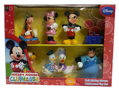 Disney Soft Mickey Mouse Clubhouse Play Set 8 Figures Birthday Cake Topper