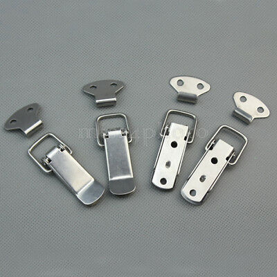 4 Set Stainless Steel Spring Toggle Latch Catch For Cases Boxes Chests Lock