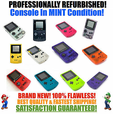 *NEW SCREEN* Nintendo Game Boy Color GBC System MINT NEW Pick a Color!