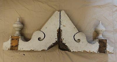 Antique Shabby Wood Victorian Corbels Roof Brackets Vintage Country Chic 3332-14