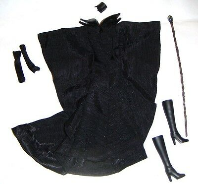 Disney Female Doll Sized Black Costumes/Boots Outfits For Doll dn165