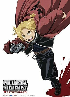 *NEW* Fullmetal Alchemist Brotherhood Elric Fabric Poster