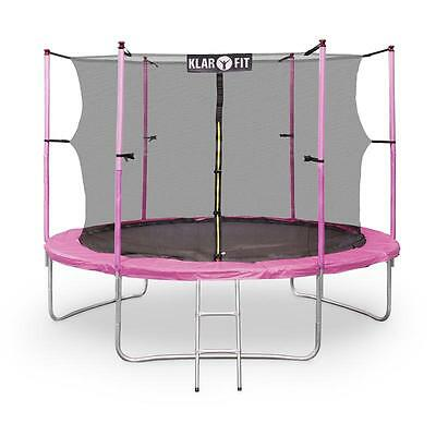 Pink 10Ft Trampoline With Safety Net Enclosure Jumping Kids Adult Gift Ideas