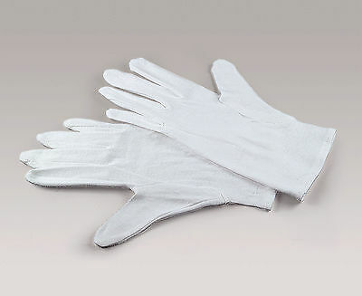 Kaiser 6367 White Cotton Gloves Large 3 Pair Set Film Handling Darkroom Gloves
