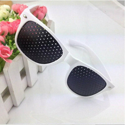 White Frame Vision Care Improver Pinhole Glasses Anti-fatigue Stenopeic Glasses