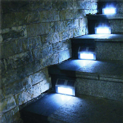 Solar Power Led Light Path Decking Stair Wall Mounted Fence Step Garden Lamp
