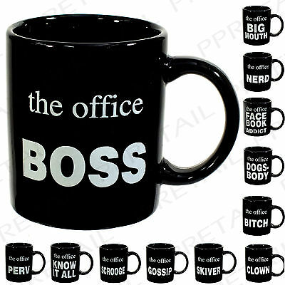 WHICH ARE YOU?? OFFICE MUGS Fun Coffee Tea Drink Cup Desk Work Gift Secret Santa