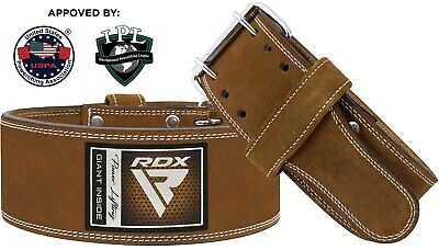 RDX Weight Lifting Nubuck Leather Power Belt Back Support Strap Gym Dip Training