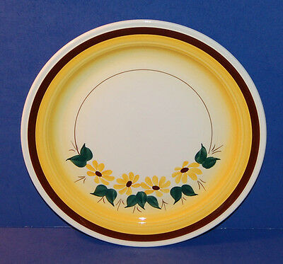 CALIFORNIA VERNONWARE HAND PAINTED BROWN EYED SUSAN LUNCHEON PLATE 1946-58 (6-C)