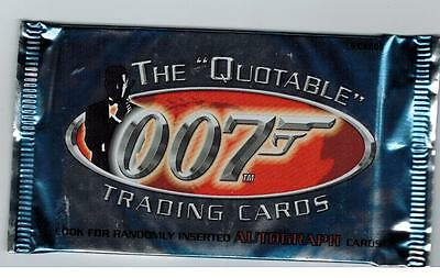 007 Quotable James Bond Unopened Pack From Box Autographs Women Roger Moore