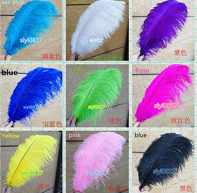 Wholesale 10/50/100pcs Natural Ostrich Feathers 10-22inch/25-55cm Wedding Party