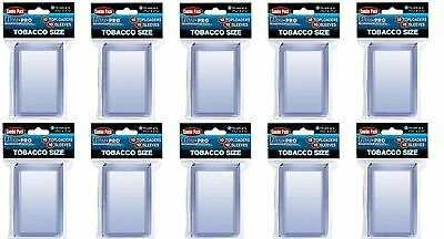 Ultra Pro Tobacco Top Loaders lot of 100 w/ sleeves NEW Toploaders