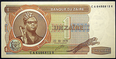 Zaire - 1 Zaire Banknote - 1979 to 1981 - Uncirculated Condition