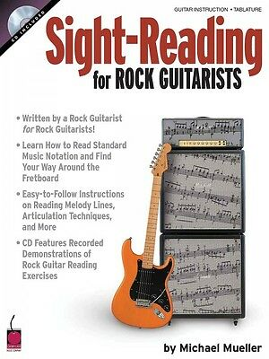 Sight Reading for Rock Guitarists - Guitar Educational Book and CD NEW 002500616