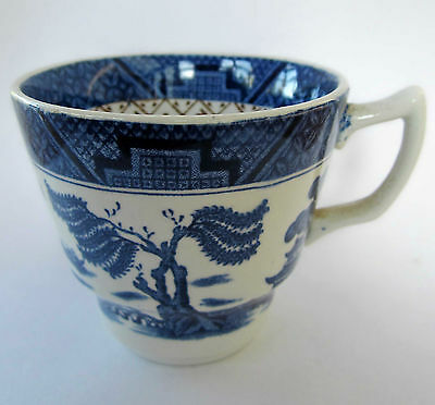 Vintage antique Booths Old Willow pattern A8025 coffee cup and more blue & white